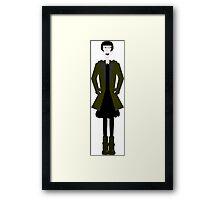 Goth Girl Character Framed Print
