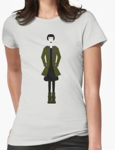 Goth Girl Character Womens Fitted T-Shirt