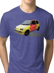 The Clungemobile - The Inbetweeners [Single Print With Text] Tri-blend T-Shirt
