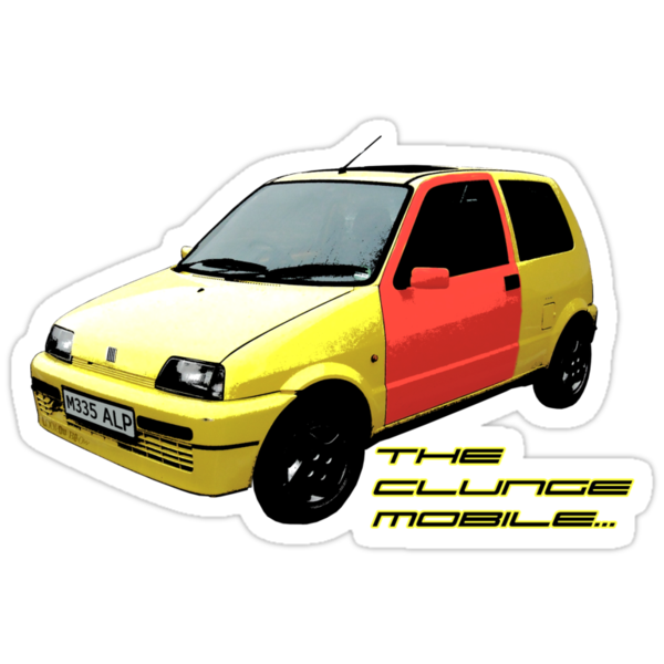 The Clungemobile - The Inbetweeners [Single Print With Text] by LookOutBelow