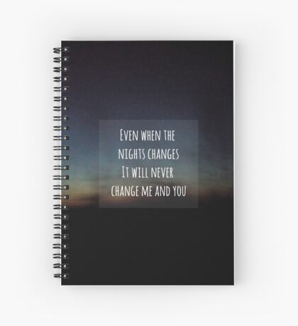 one direction - nights changes lyrics Spiral Notebook