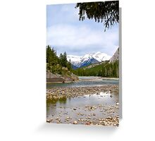 Bow River, Banff , Alberta Canada Greeting Card