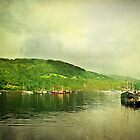 Harbour Life, Ullapool In Scotland. by Aj Finan