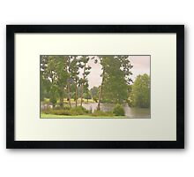 Aross to distant shores Framed Print