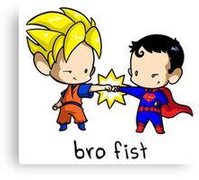 Goku Bro Fists Superman Canvas Print