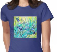 Irises - My Hommage to Vincent Van Gogh Womens Fitted T-Shirt