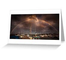 Rainbow dock Greeting Card