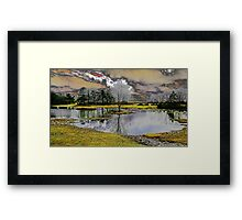Fantasy dream world lake Framed Print