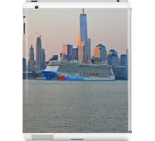 Cruise Ship Norwegian Breakaway On The Hudson Rv. iPad Case/Skin