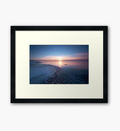 Frozen Shores Framed Print