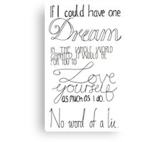 If I could have one dream granted Metal Print