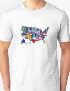 USA State Flags Map Mosaic Unisex T-Shirt