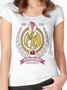 Pink Ranger Academy Women's Fitted Scoop T-Shirt