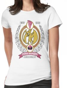 Pink Ranger Academy Womens Fitted T-Shirt