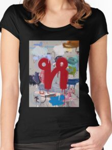 """Thai Characters """"ห"""" Women's Fitted Scoop T-Shirt"""