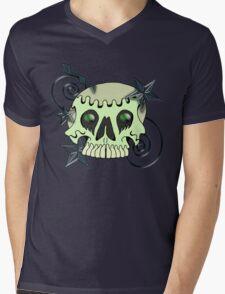 Skull with spirals & stars Mens V-Neck T-Shirt