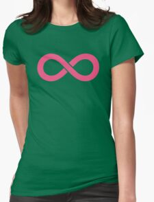 Infinity Pink Womens Fitted T-Shirt