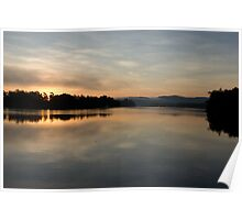 Tropical  Winter Dawn ~ Johnstone River Junction, Innisfail, FNQ.  Poster