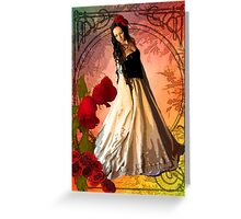 NOUVEAU ROSE Greeting Card