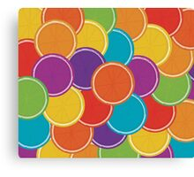 Colourful Citrus Pattern Canvas Print