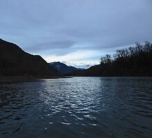 Last Light on the Skagit by Mike  Kinney