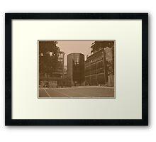 The Cylinder (oil effect) Framed Print
