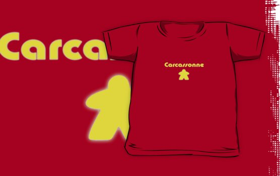 Carcassonne Board Game Meeple T-shirt Kids Clothing by deanworld