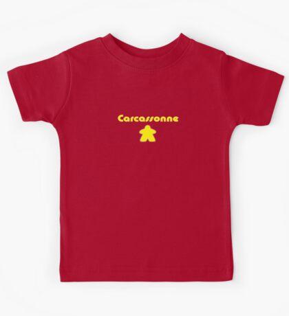 Carcassonne Meeple Parody T-shirt Kids Clothing Kids Tee