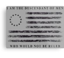 Descendant of Liberty - Flag (Black) Metal Print