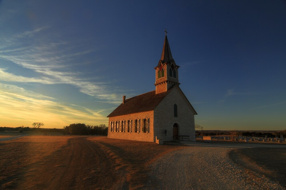 St. Olaf's - The Old Rock Church by Terence Russell