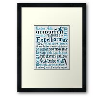 Harry Potter - All Quotes  Framed Print