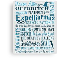 Harry Potter - All Quotes  Canvas Print