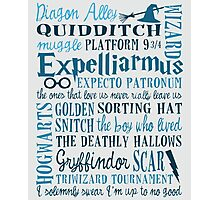 Harry Potter - All Quotes  Photographic Print