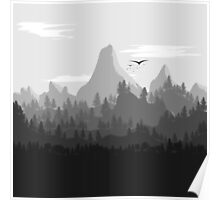 Landscape In Greyscale Poster