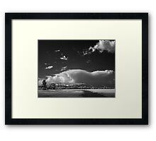 Afternoon Clouds - Irish Bend Framed Print