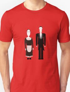 Gothic Butler and Maid Characters T-Shirt
