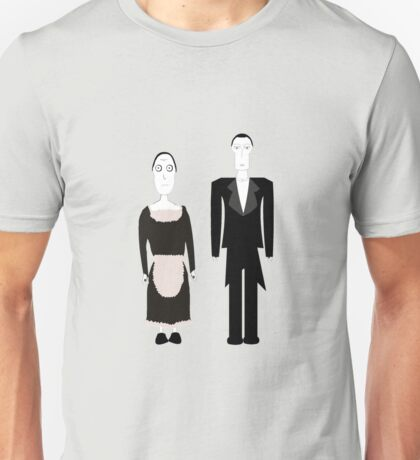 Gothic Butler and Maid Characters Unisex T-Shirt