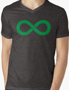 Infinity Green Mens V-Neck T-Shirt