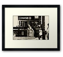 The chase ended Framed Print