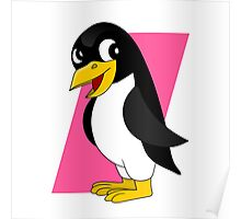 Cute penguin cartoon Poster