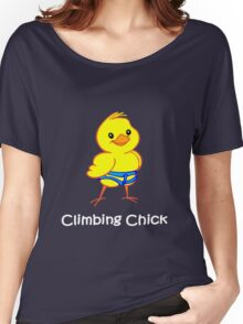 Climbing chick geek funny nerd Women's Relaxed Fit T-Shirt