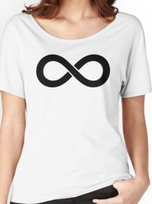 Infinity Black Women's Relaxed Fit T-Shirt