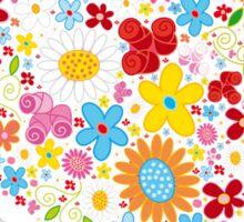 Cute Flowers Big Heart Sticker