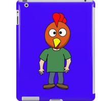 Crazy chicken dude cartoon graphic mens geek funny nerd iPad Case/Skin