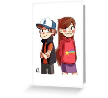 Dipper and Mabel - Gravity Falls Greeting Card