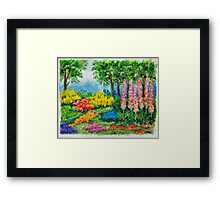THE KEUKENHOF IN 2009 - WATERCOLOR PAINTING Framed Print
