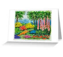THE KEUKENHOF IN 2009 - WATERCOLOR PAINTING Greeting Card