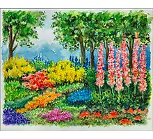 THE KEUKENHOF IN 2009 - WATERCOLOR PAINTING Photographic Print