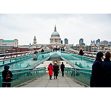 St Paul's Cathedral from Millennium Bridge. Photographic Print