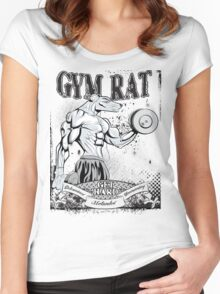 Gym Rat (Male) Women's Fitted Scoop T-Shirt